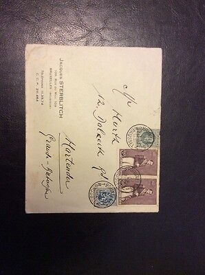 1936 Brussels Cancelled Cover Jacques Sterblitch with 4 Stamps