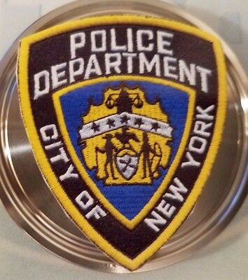 Stainless Steel Desk Paperweight With Nypd Emblem Large Memorial On Other 9/11