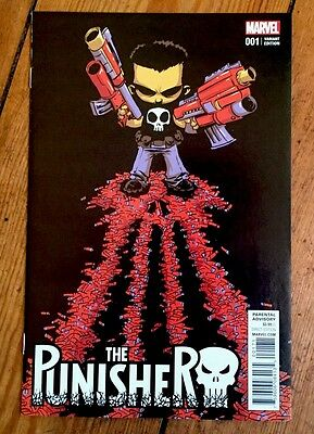 The Punisher #1 - Skottie Young Scarce Variant 1St Print Nm New