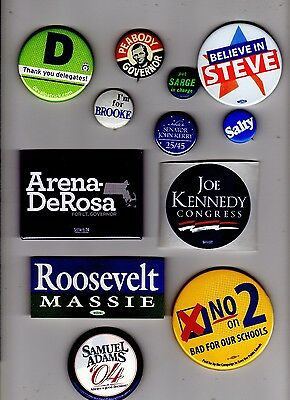 Massachusetts Political Campaign Memorabilia / Button Lot - Senate & Governor