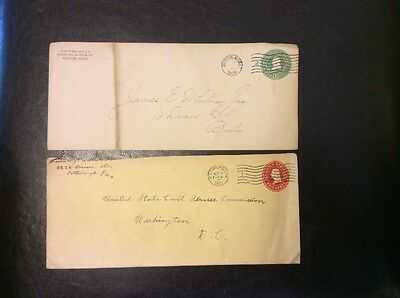 1908 & 1915 Cancels On Pre-paid USA Envelopes