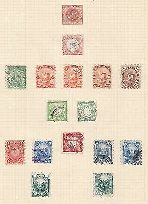 Peru 1859 - 78  Good Page Of Earlies Mh & Used