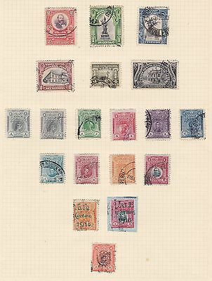 Peru 1907 - 20      2Pages  Various Values  Part Sets  O/prints  Mh & Used