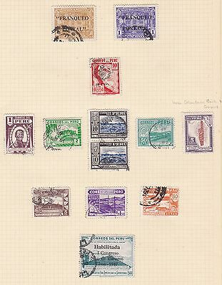 Peru 1941 - 60       5Pages  Various Values  Part Sets  O/prints  Mh  &  Used