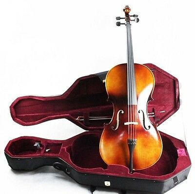 PROMOTION!! 4/4 Beginner Cello Kit Vintage Color (Bag, Bow, Hard Case Included)