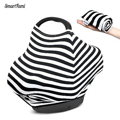 Baby Car Seat Cover SmartFami 4-In-1 breastfeed Coversbaby car seat cover Pro...