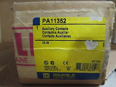 NEW Square D PA11352 auxiliary contact 2A-2B new AUX switch