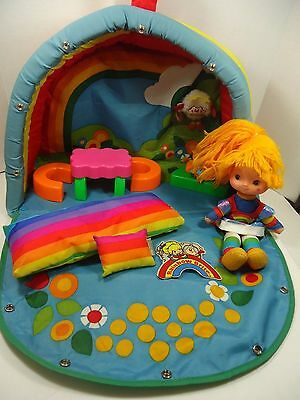 Vintage Rainbow Brite COLOR COTTAGE PLAY SET Doll Furniture Pillow Bed 1983