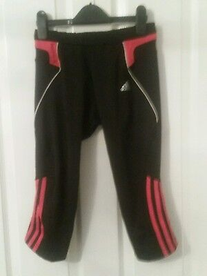 Adidas Response 3/4 tights pants leggings trousers tracksuit bottoms black/pink