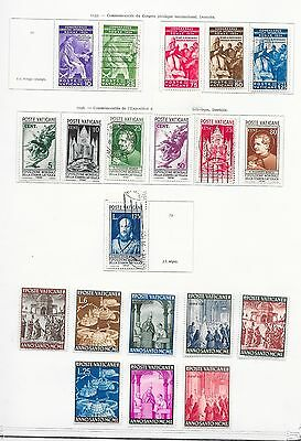 Vatican stamps 1935 Collection of 20 stamps  MLH/CANC  VF  HIGH VALUE!