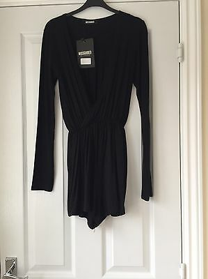 Missguided Size 6 Black Playsuit