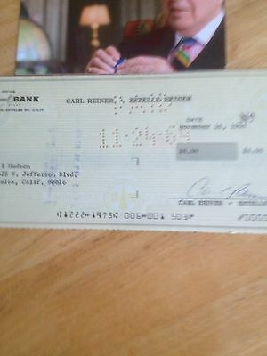 Carl Reiner Hand Signed Personal Cheque