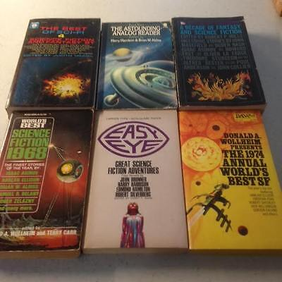 Job Lot of 6 collectable Science Fiction Paperback Books 1960s/1970s start 99P