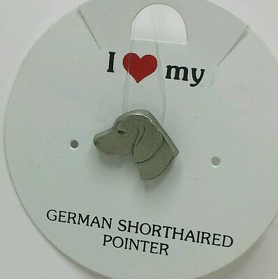 I Love My_ German Shorthaired Pointer _ Dog Pin _ Rawcliffe Pewter 1983