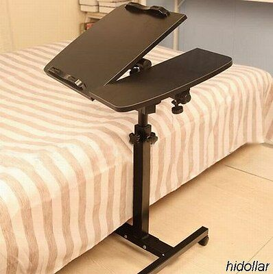 Mobile Bedside Table Laptop Ipad Tablet Study Desk Stand Coffee Table 6.2K Tilt