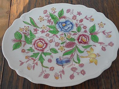 Vintage Johnson Bros English Bouquet Plate 11 x 8.5""