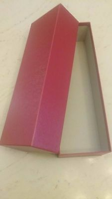 """Red Storage Box for 102A or B Display Cards 4-3/4"""" x 3-3/8 x 14-1/4 Inches Long"""