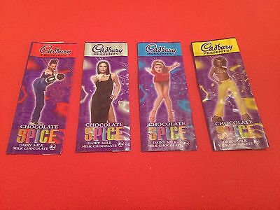 Spice Girls Cadbury Chocolate Wrappers x 4 RARE