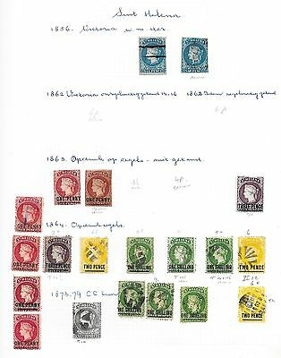 St Helena stamps 1856 Collection of 20 CLASSIC stamps  HIGH VALUE!
