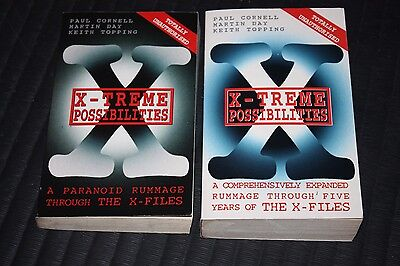 2 paperback books X-Treme Possibilities Paranoid Rummage Through the X-Files