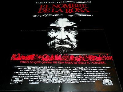 1986 The Name of the Rose ORIGINAL SPAIN POSTER Sean Connery Christian Slater