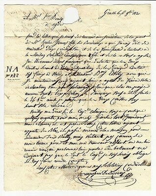 1820 Shipping letter Champossin De Bezieux Grasse France to Bousquet at Agde