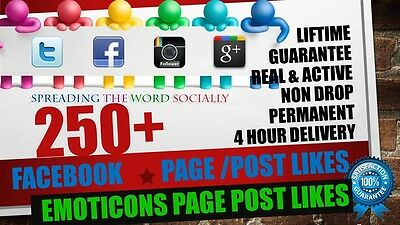 250 Facebook Page/Post Like Service | QUICK&SAFE | SEO MARKETING | HQ |