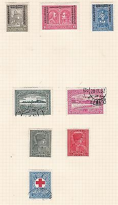 Yugoslavia 1931 - 35    2Pages  Various Values Part Set  O/prints  Mh  & Used