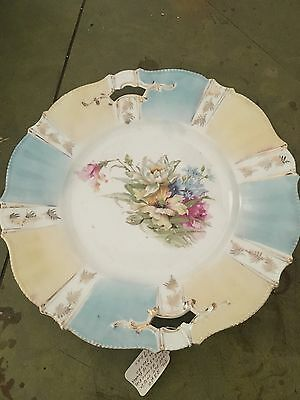 Vintage Yellow And Blue Floral Pattern Plate