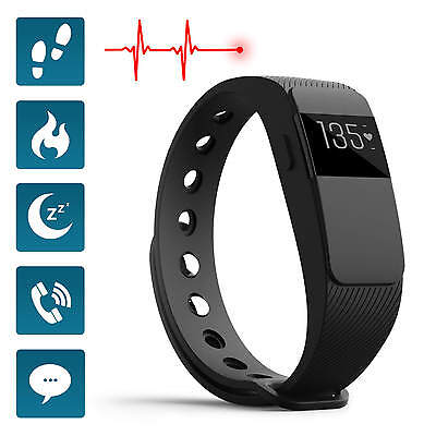 Activity Fitness Tracker & Heart Rate Monitor Sports OLED Wristband Sleep Track