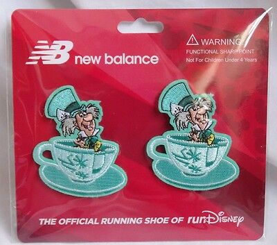 Run Disney 2017 Mad Hatter Tea Party Shoe Clip-Ons New Balance Charms Clips