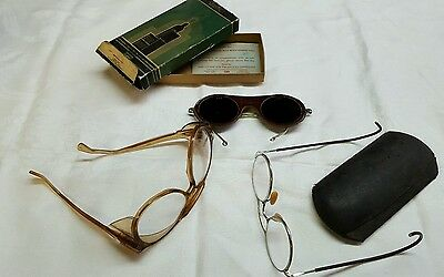 Vintage Safety GLASSES Eyewear OXWELD Old Spectacles eye protection