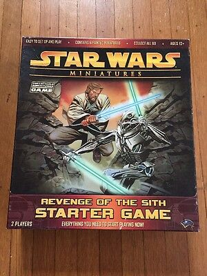 Star Wars Miniatures Revenge of Sith Starter Game COMPLETE Open Box Never Played