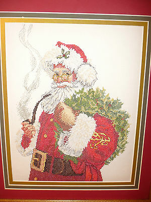 Santa Completed Crossstitch