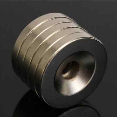 5pcs N50 20x3mm Strong Round Countersunk Ring Magnets 5mm Hole Rare Earth Neodym