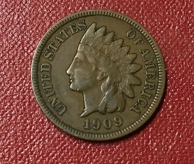 1909 Indian Head Cent,VF,Free Shipping