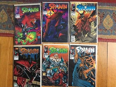 Spawn Comic Lot (Issues 1-3, 5-7)
