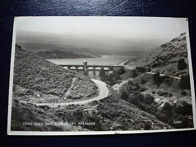 Postcard Craig Goch Dam, Elan Valley, Rhayader, posted to Essex 1960