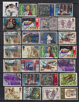 GB QE2 Collection of 28 used stamps Various conditions ( E298 )