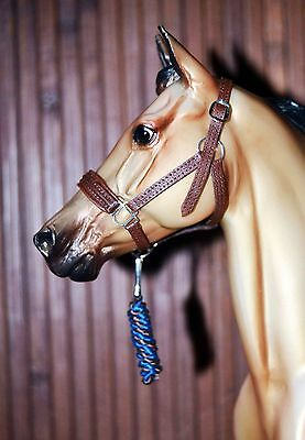 Padded Brown Leather Halter, Breyer Stone Model Horse,Traditional 1:9 size