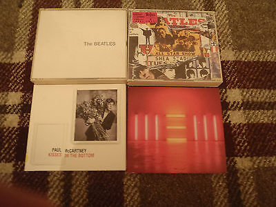 THE BEATLES WHITE ALBUM fat box PAUL McCARTNEY NEW KISSES ON THE BOTTOM 4 CD LOT
