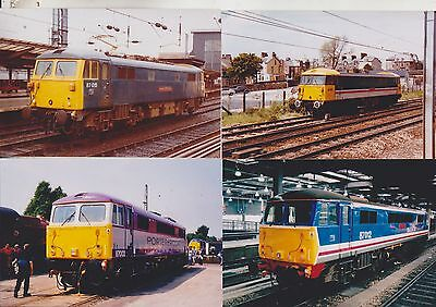 Ten !! Br Class 87 Loco  6 X 4 Color Photo's Old  Livery