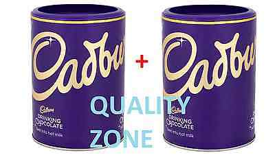 2 X Cadbury Drinking Chocolate Swirl into Hot Milk 500g Total 1KG Drink Cocoa BN