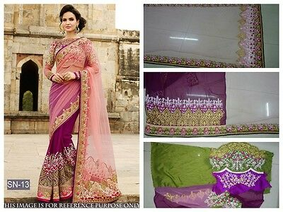 Bollywood Party Wear Saree Indian Designer Wedding Bridal Pakistani Saree Sari