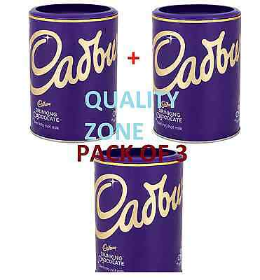 3 X Cadbury Drinking Chocolate Swirl into Hot Milk 500g Total 1.5KG Drink Cocoa