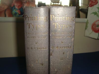 Printing Typres Their History, Form & Use, Volumes 1, 2, Daniel B Updike, OUP.