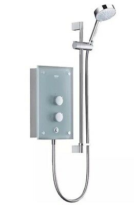 Mira Azora Electric Shower Frosted Glass 9.8kW NEW £520