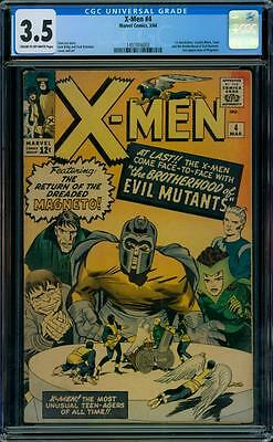 X-Men 4 CGC 3.5 - 1st Quicksilver & Scarlet Witch