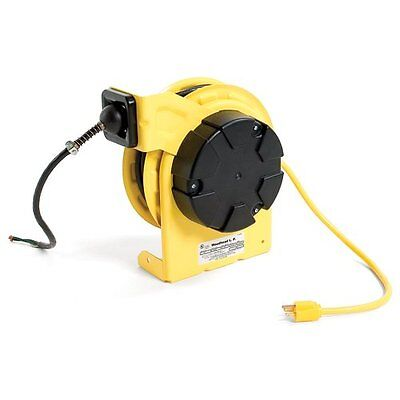 Woodhead Cord Reel 45ft Cable 2-Outlet With Accessory, Standard Duty,990-3070G