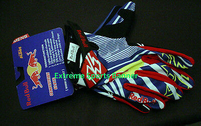 NEW KINI Red Bull KTM Competition Gloves XLarge White Blue ~ Free Shipping